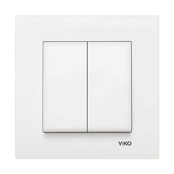 Выключатель двойной Viko karre белый