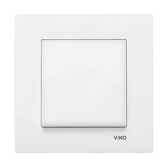 Выключатель одинарный Viko karre белый