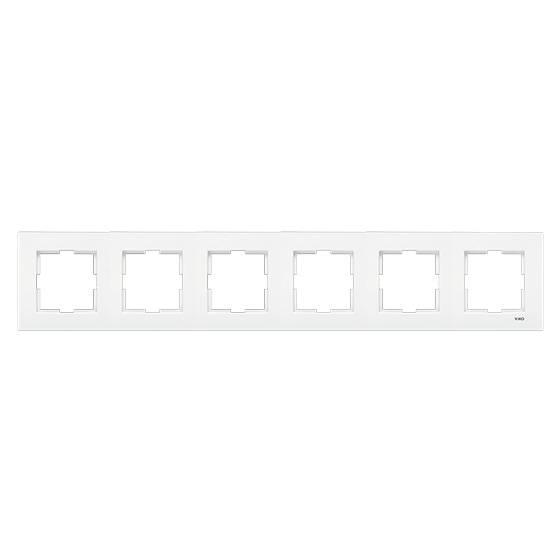 Рамка 6-я Viko karre белая