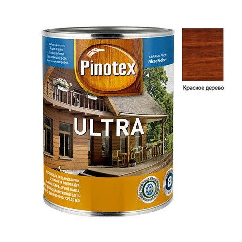 Pinotex Ultra 1л Красное дерево