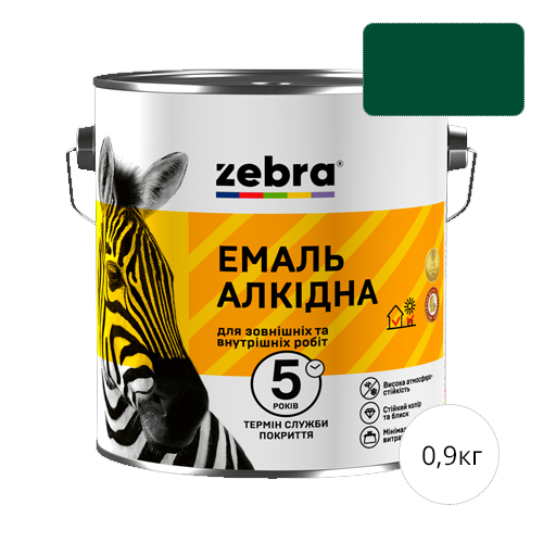 Zebra 0,9 Темно-зеленая