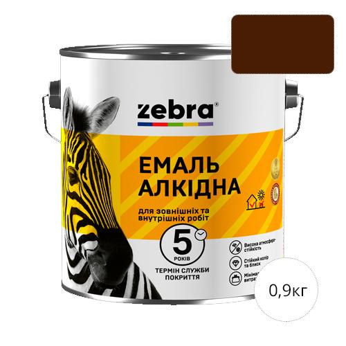 Zebra 0,9 Темно-коричневая