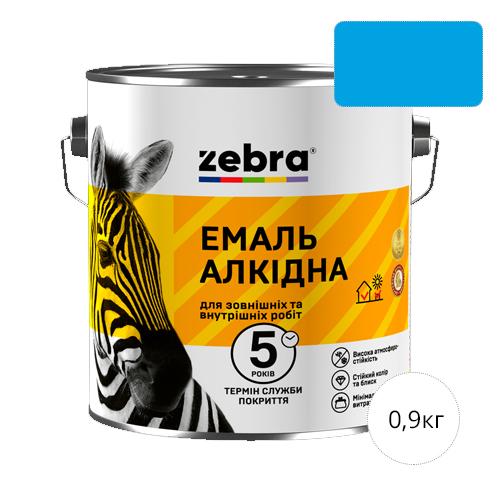 Zebra 0,9 Ярко-голубая