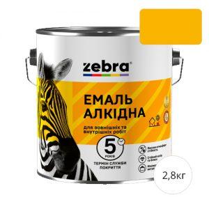 Zebra 0,9 Ярко-желтая