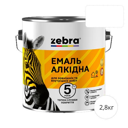 Zebra 2,8 Белый глянец