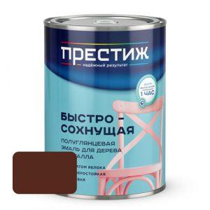 Эмаль акриловая полуглянцевая ПРЕСТИЖ Шоколадная