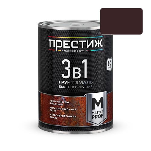 Грунт-эмаль по ржавчине 3в1 Престиж коричневая 1.9