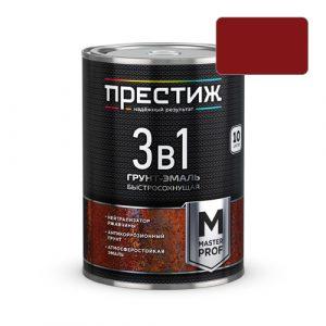 Грунт-эмаль по ржавчине 3в1 Престиж красно-коричневая 1.9