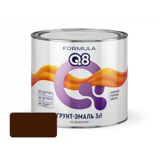 Грунт-эмаль по ржавчине FORMULA Q8 Шоколадная 09